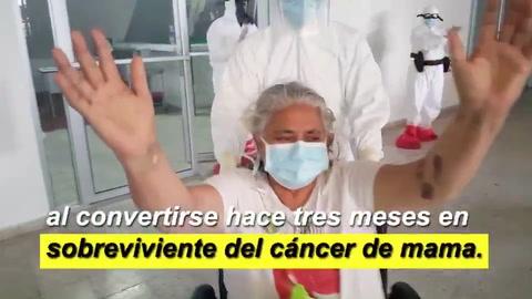 Hondureña vence el COVID-19 luego de sobrevivir al cáncer de mama
