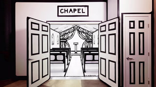 "Artist Joshua Vides created a ""White Wedding"" chapel for Billy Idol's Las Vegas residency"