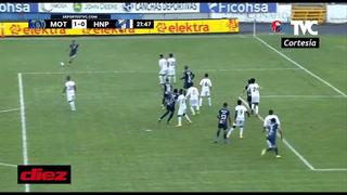 Motagua está derrotando al Honduras Progreso con un gol de carambola de Roberto Moreira