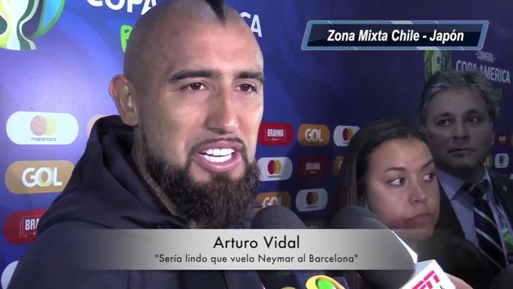 Vidal ve con buenos ojos el regreso de Neymar Jr al Barcelona