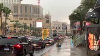 Las Vegas Strip gets smacked with cold front