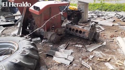 Reducidos a chatarra: Así quedaron los tractores Alba