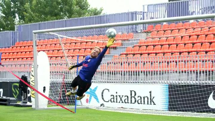 El Atlético finaliza la semana de entrenamientos individualizados por el Covid