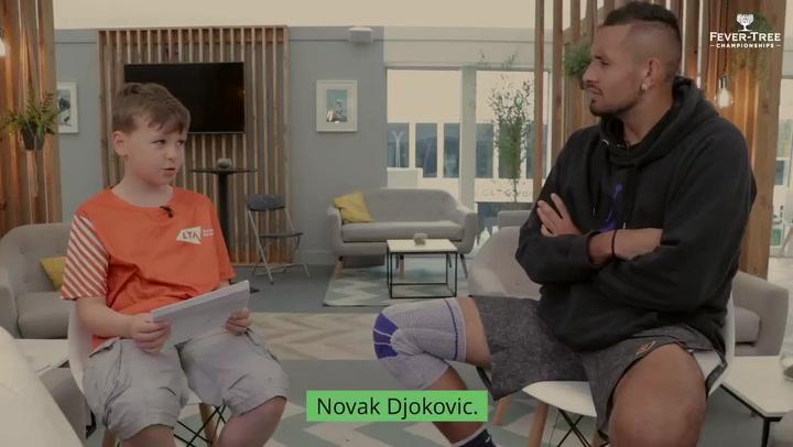 Un niño trolea a Kyrgios en una entrevista... y al final sale escaldado Djokovic