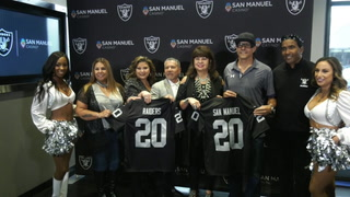 Raiders' partnership with San Manuel Casino – VIDEO