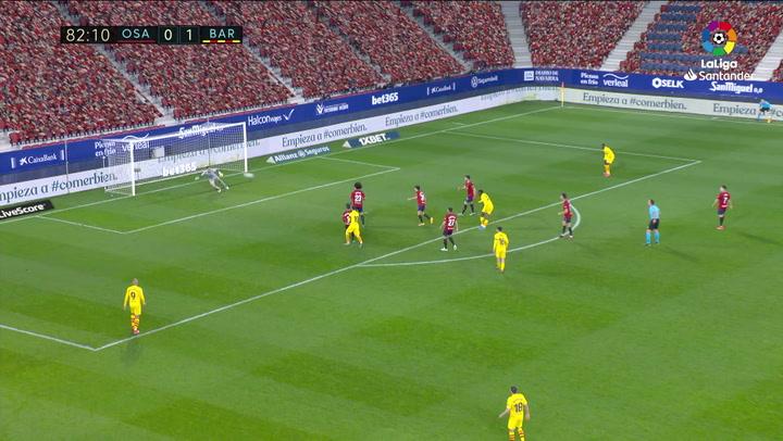 Gol de Ilaix Moriba (0-2) en el Osasuna 0-2 Barcelona