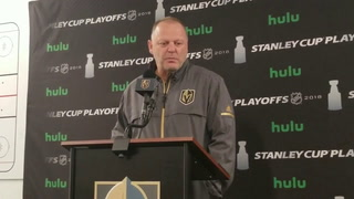 Golden Knights coach Gerard Gallant