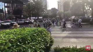 Strip intersections blocked during protest