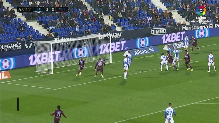 Gol de Araujo (3-1) en el Leganés 3-2 Celta