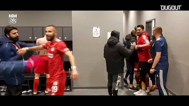 Jubilant Scenes in Sivasspor Locker Room After Besiktas Victory