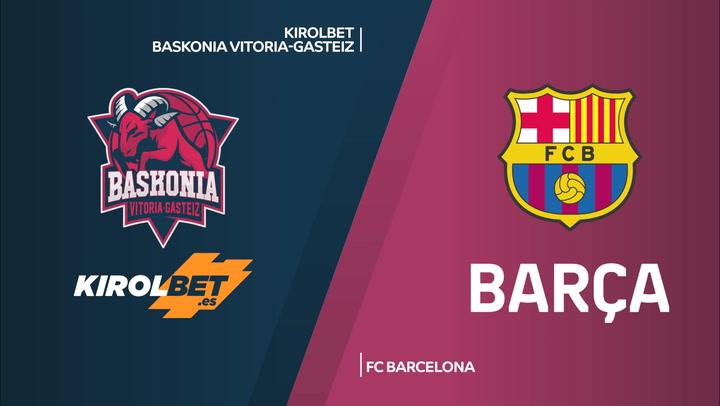 El resumen del Baskonia - FC Barcelona (76-74)