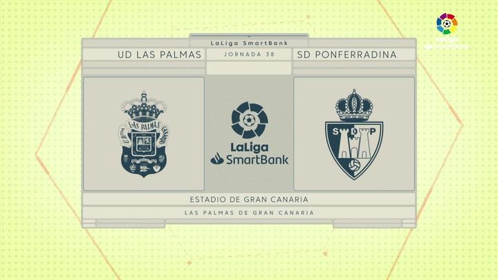 LaLiga SmartBank (J38): Las Palmas 3-0 Ponferradina