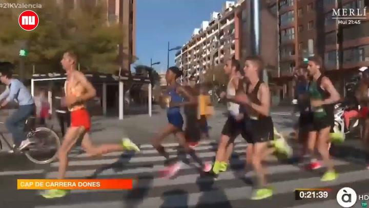 Hassan komt hard ten val tijdens halve marathon in Valencia