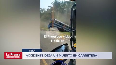 Accidente deja un muerto en carretera hacia Tela