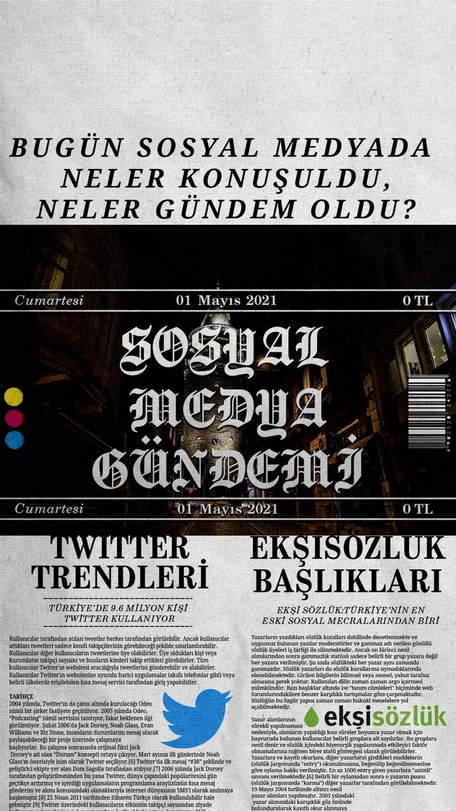 Sosyal medyayı sallayanlar - 1 Mayıs