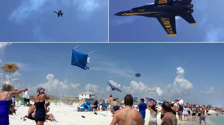 Her ødelegger jagerflyene strandidyllen
