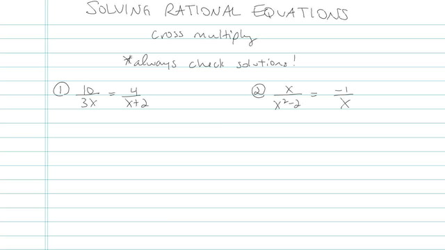 Solving a Rational Equation - Problem 6