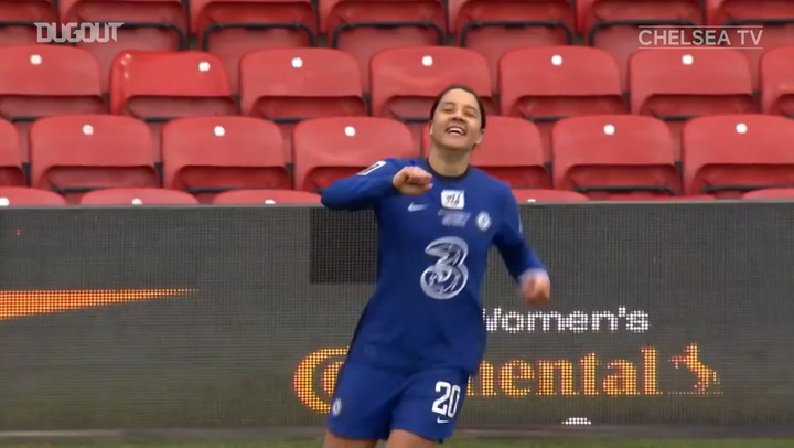 Sam Kerr hat-trick leads Chelsea to Conti Cup glory