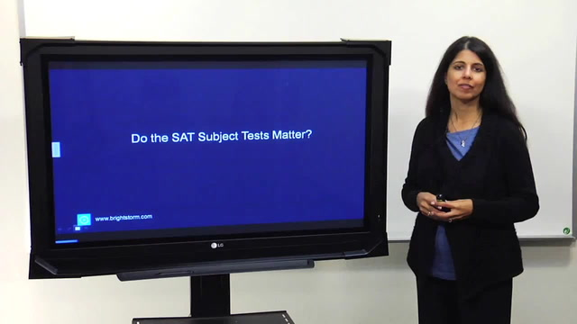 Do the SAT Subject Tests(SAT II) matter?