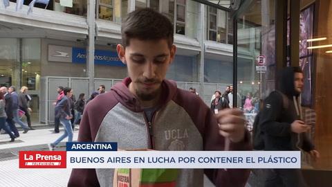 Buenos Aires en su lucha por contener el plástico