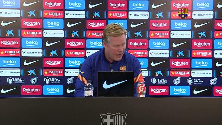 Rueda de prensa de Koeman previa al partido de Copa contra el Rayo (completa)