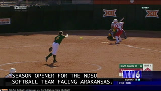 NDSU softball team loses season opener