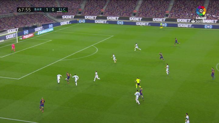 Gol de Messi (2-0) en el Barcelona 3-0 Elche