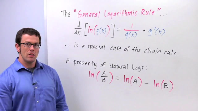 Chain Rule: The General Logarithm Rule - Problem 2