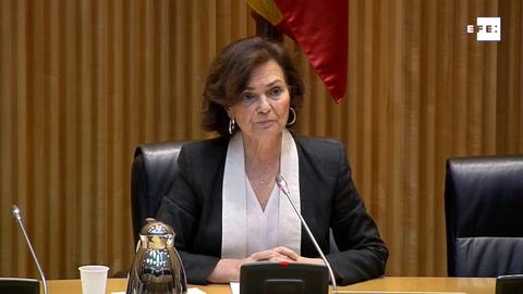Carmen Calvo asegura que el Gobierno planteará una última prórroga si tiene mayoría