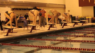 Prep boy's swimming: Coaches compete in 100m medley