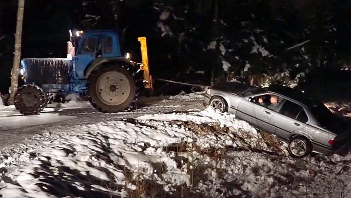 Alt gikk galt da traktoren skulle hjelpe