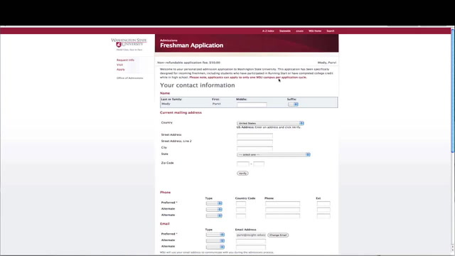 How to Complete the Washington State Application