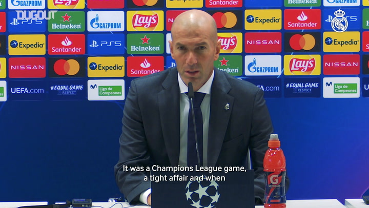 Zidane: 'We fought to the end and deserve our win'