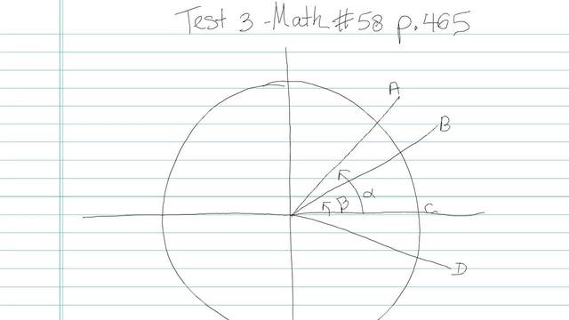 Test 3 - Math - Question 58
