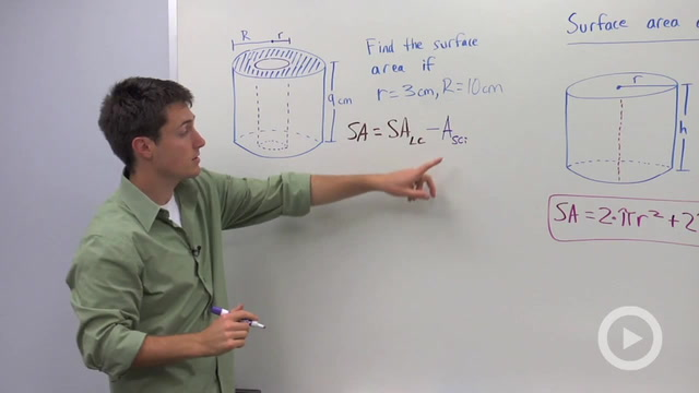 Surface Area of Cylinders - Problem 2