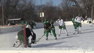 MEN'S HOCKEY: UND practices on outdoor rink at University Park