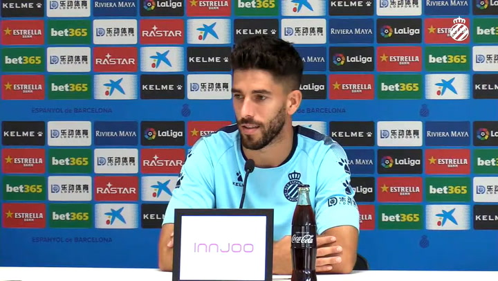 La rueda de prensa de Dídac Vilà (Espanyol)