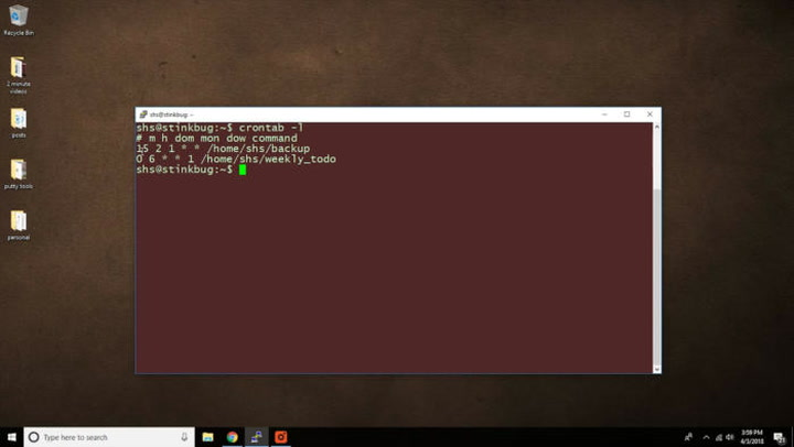2-Minute Linux Tip: Learn how to use the crontab command