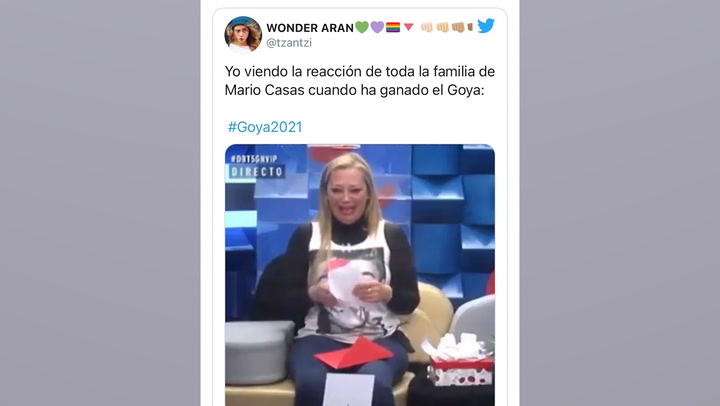 La interminable lista de contactos de Antonio Banderas en Hollywood, entre los mejores memes de la gala de los Goyas