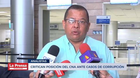 Critican posición del CNA ante casos de corrupción