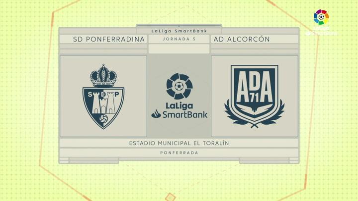 LaLiga SmartBank (J5): Resumen y goles del Ponferradina 1-1 Alcorcón
