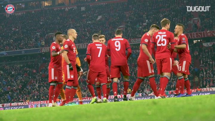 Tras las cámaras: Robert Lewandowski ante el Benfica