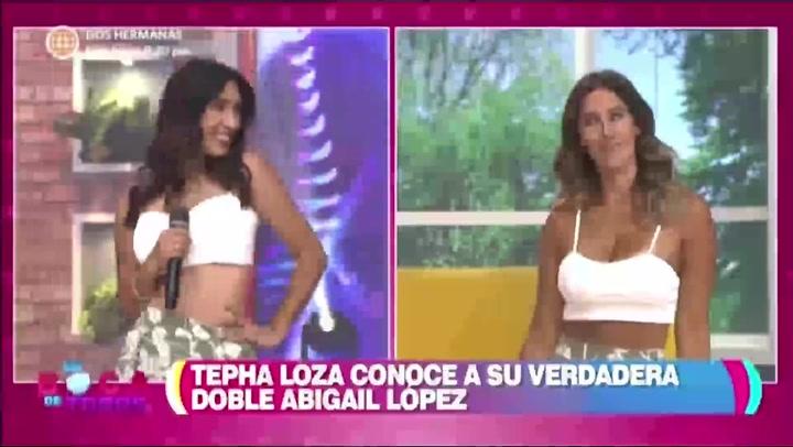 Tepha Loza sorprendida al conocer a su doble de TikTok