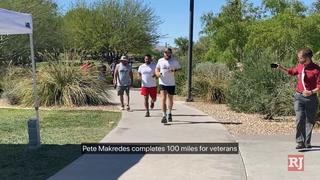 Las Vegas man runs 100-mile marathon for veterans on Memorial Day – Video