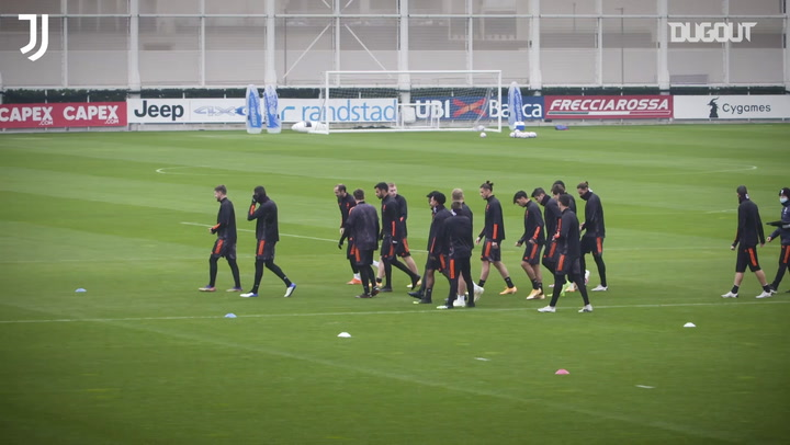 Juventus' last training ahead of Dynamo clash