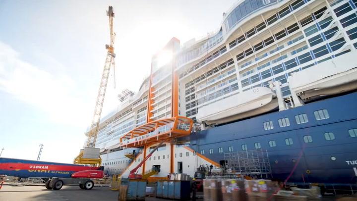 Celebrity Edge Shipyard Hyperlapse Tour