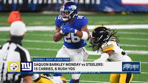 Vacchiano: Big issue for the Giants is Saquon Barkley only rushed for 6 yards