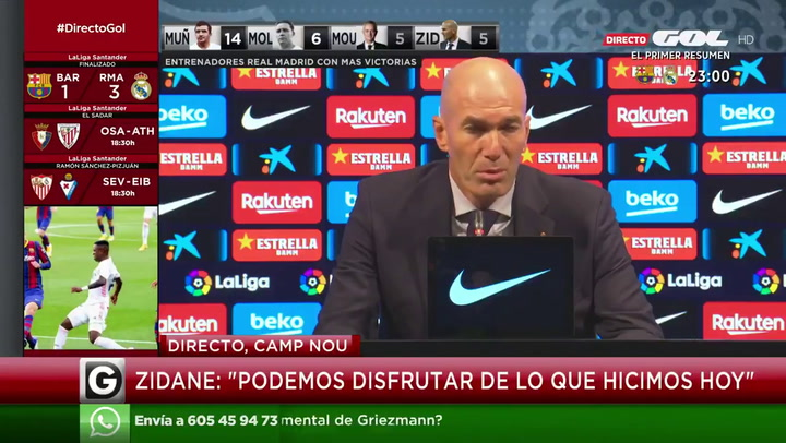 Zidane habló al final del Clásico