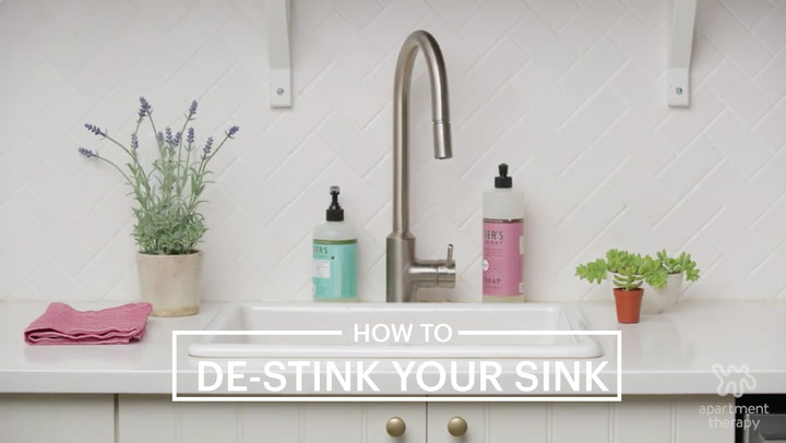 Bathroom Sign Si No how to clean your kitchen sink & disposal | apartment therapy