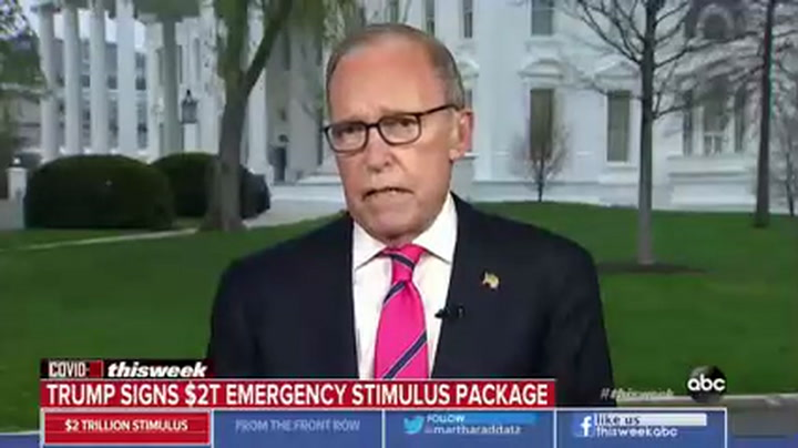 ABC's Raddatz to Kudlow: 'Why Should People Trust You' After You Downplayed Coronavirus
